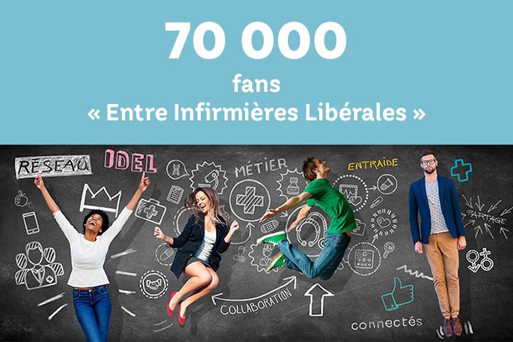 """CBA fête ses 70 000 fans sur sa page Facebook """"Entre Infirmières Libérales"""""""
