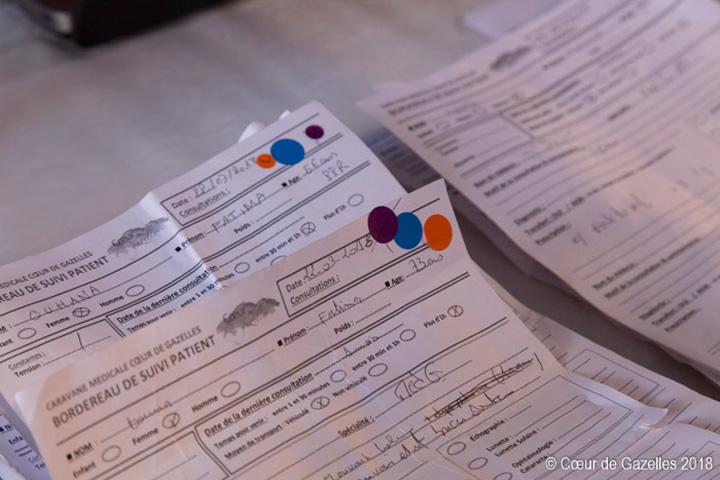Suivi des patients papier caravane médicale