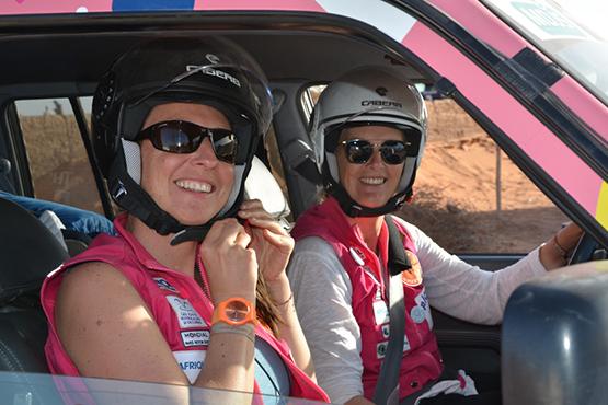 Caroline et Cécile Birling participent au Rallye Aïcha des Gazelles 2018
