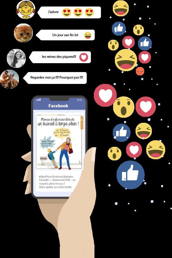 "Page Facebook ""Entre Infirmières Libérales by CBA"""